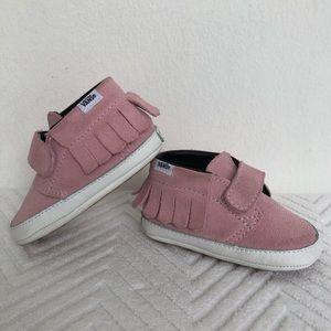 Vans Suede The Fringe Pack Infant Booties Pink 3